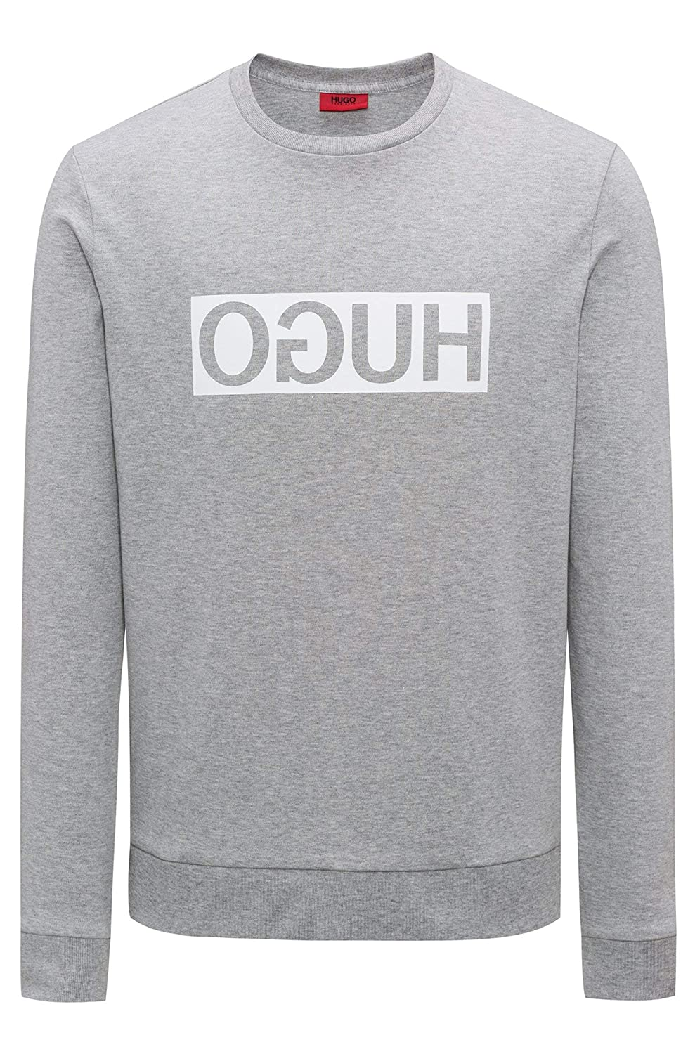 Grey (Open Grey 061) L HUGO Men's Dicago Sweatshirt