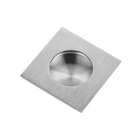 1 St/ück 70 x 10 mm rund Edelstahloptik Griffmuschel zum Aufkleben