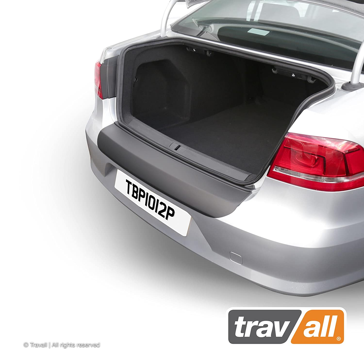 Vehicle-Specific Black Plastic Moulded Rear Bumper Protector Smooth Travall Protector TBP1012P