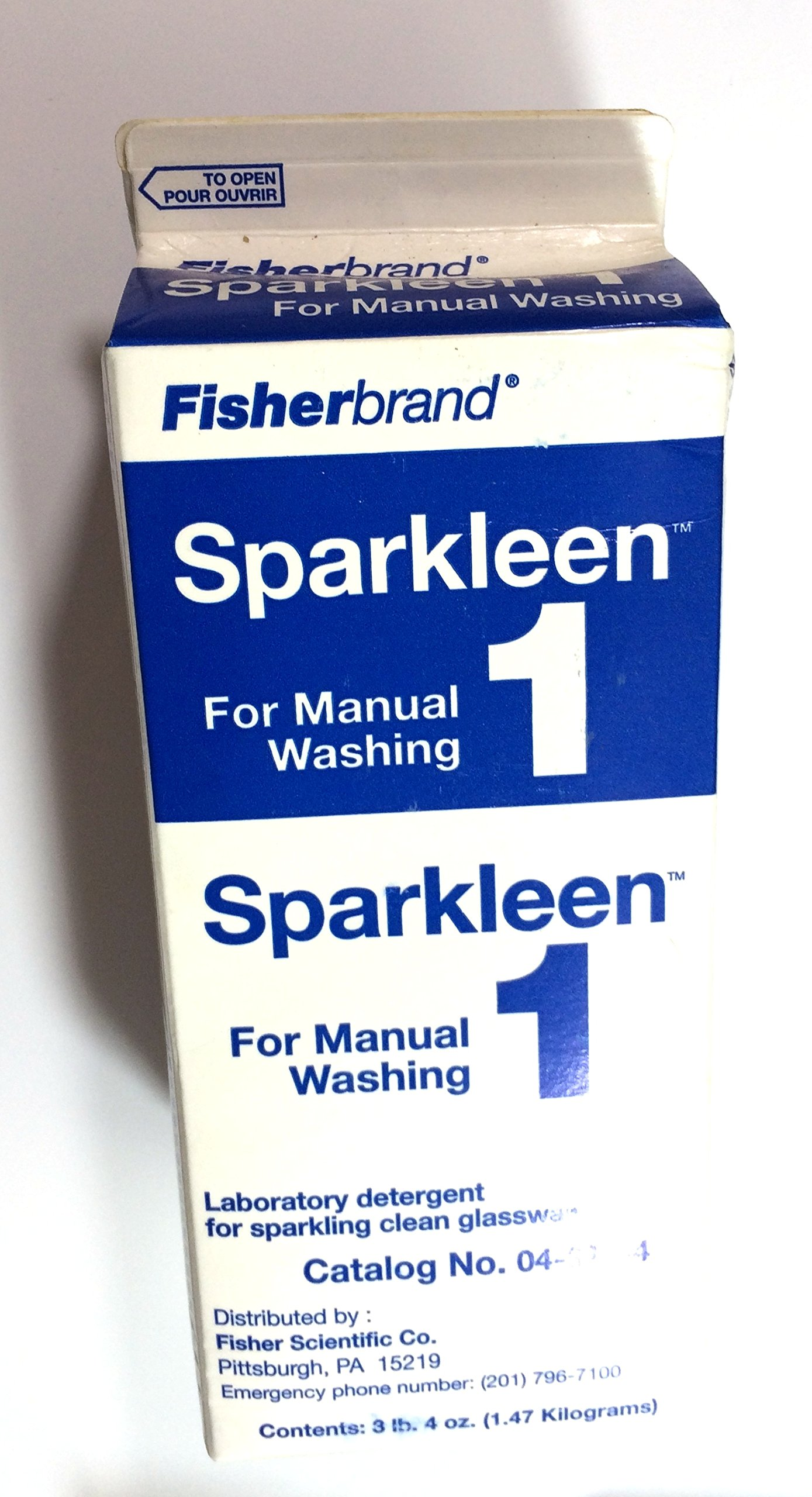Fisher Scientific 04-320-4 Sparkleen 1 Detergent, 3.33 lb. (1.5 kg)