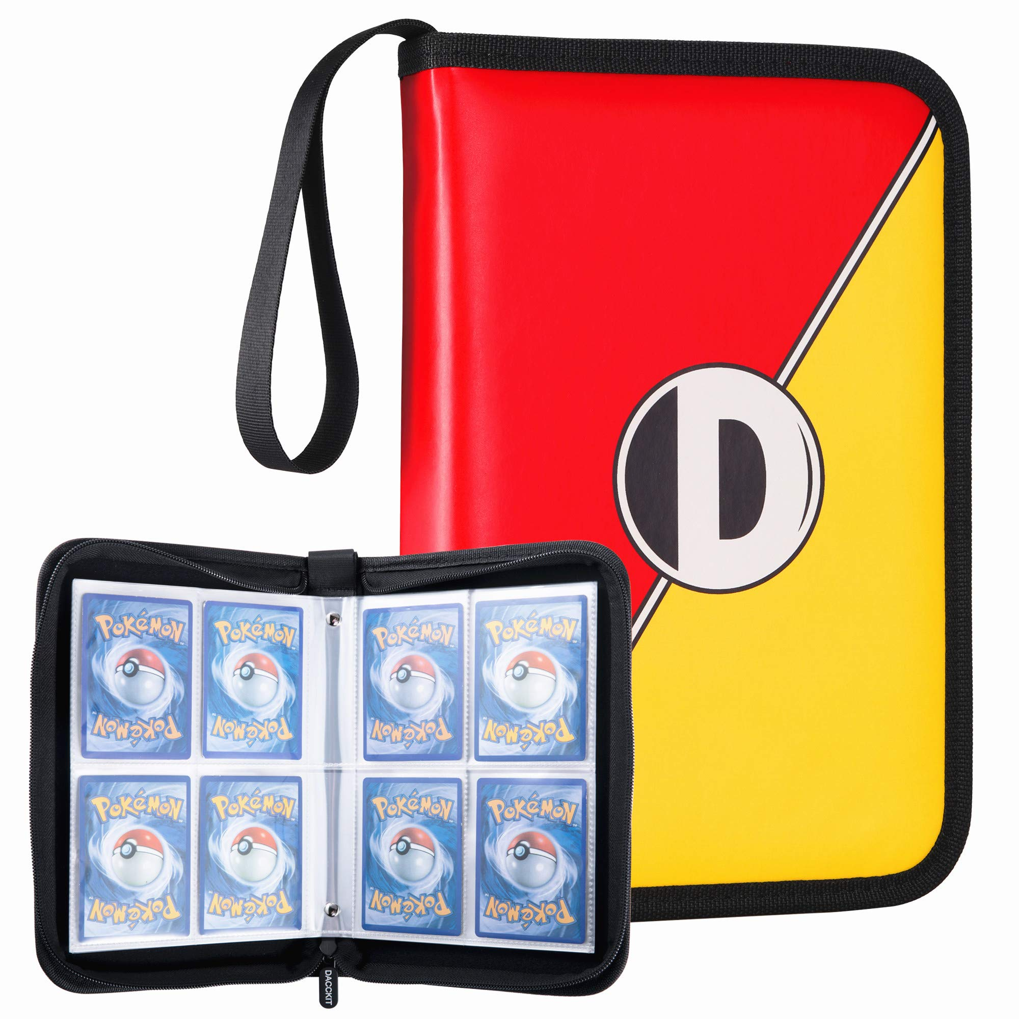 D DACCKIT Carrying Case Compatible with Pokemon Trading Cards, Cards Collectors Album with 20 Premium 4-Pocket Pages, Holds Up to 320 Cards