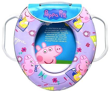 Peppa Pig Kids suave acolchado de orinal formación asiento para inodoro con asas WC niño Todd