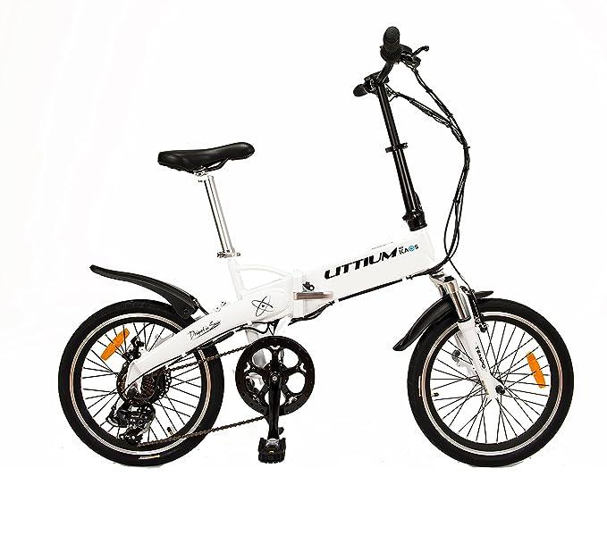 Littium By Kaos Ibiza LCD Bicicleta Eléctrica Plegable, Unisex Adulto, Blanco, L: Amazon.es: Deportes y aire libre