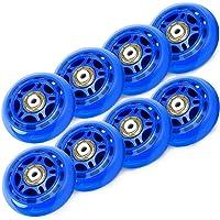 TOBWOLF Ruedas de patín en línea de 70 mm/76 mm, 82 A/84A, 8 unidades, para niñas y niños con rodamientos ABEC 7, color…