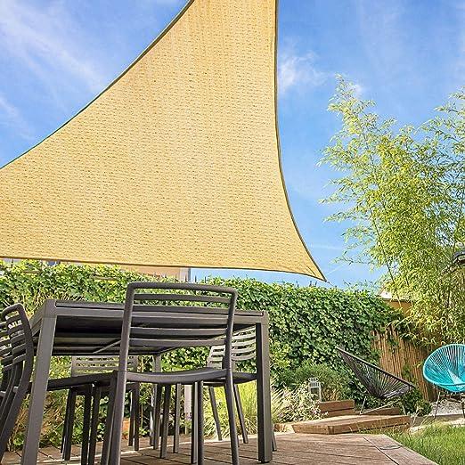 SUNDUXY Toldo Vela de Sombra Triangular, protección Rayos UV ...