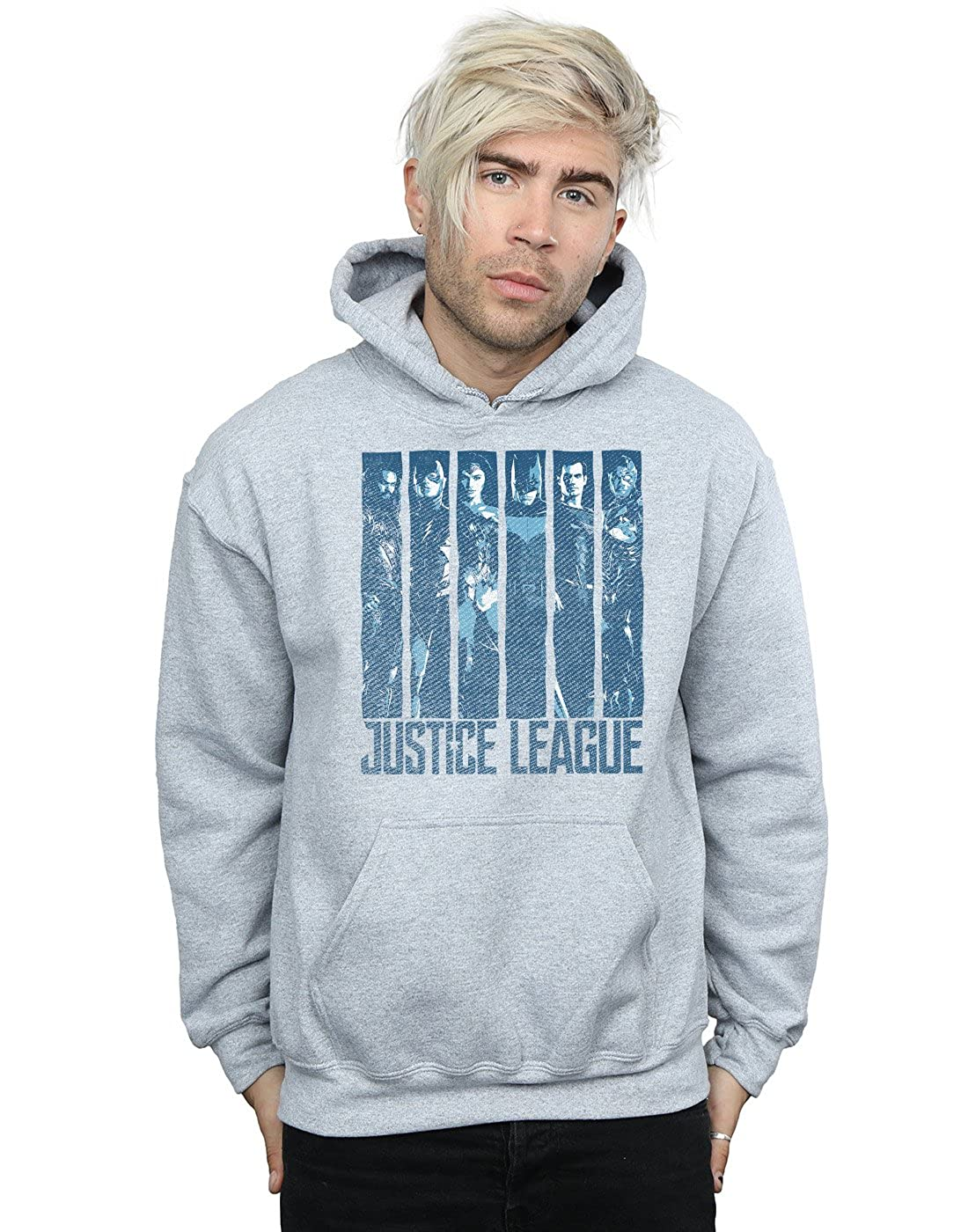 DC Comics Herren Justice League Movie Double Indigo Kapuzenpullover