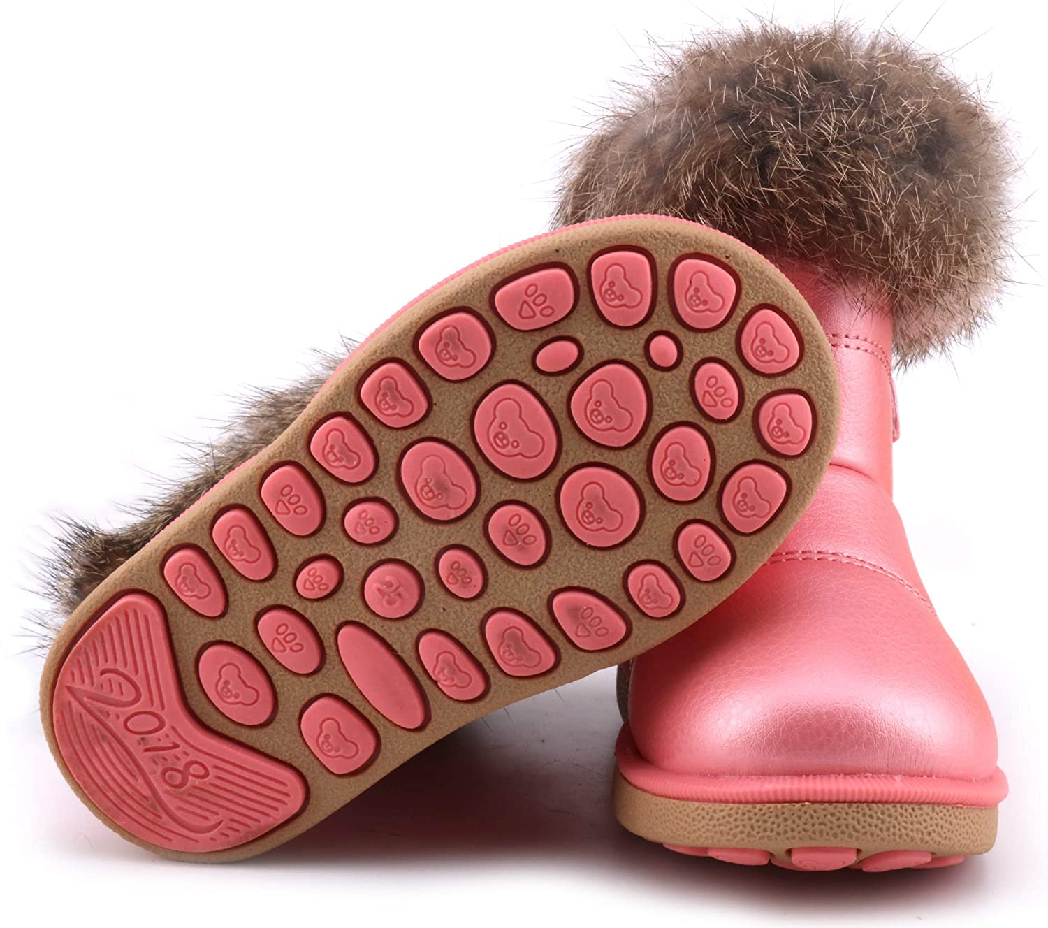 Toddler//Little Kid Femizee Girls Boys Warm Winter Flat Shoes Bailey Button Snow Boots