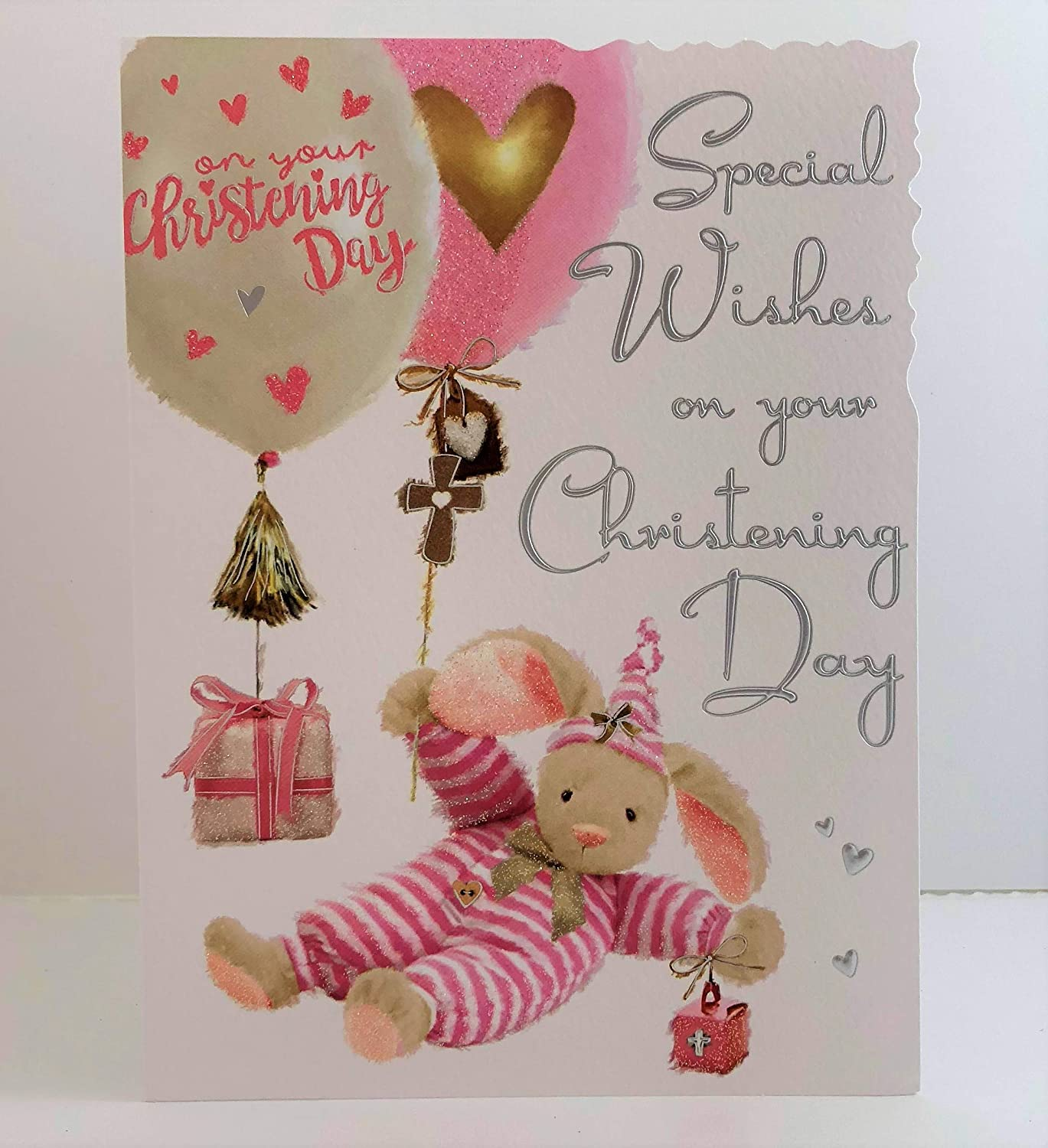 Jonny Javelin Girl Special Wishes On Your Christening Day Card