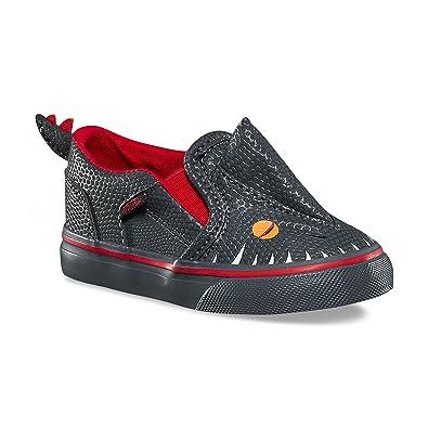 5697dee763c Vans Toddler Asher V (Vanosaur) Asphalt Racing Red VN000XE9Q5W Toddler Size  4