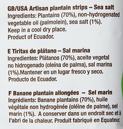 Amazon.com : Samai Plantain Strips Pacific Sea Salt 4 oz (Pack of 8) : Grocery & Gourmet Food
