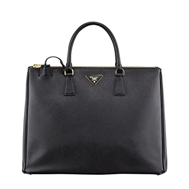 8a2140e67c39 Image Unavailable. Image not available for. Colour  Prada Women s Tote Bag  Saffiano Leather in Black ...