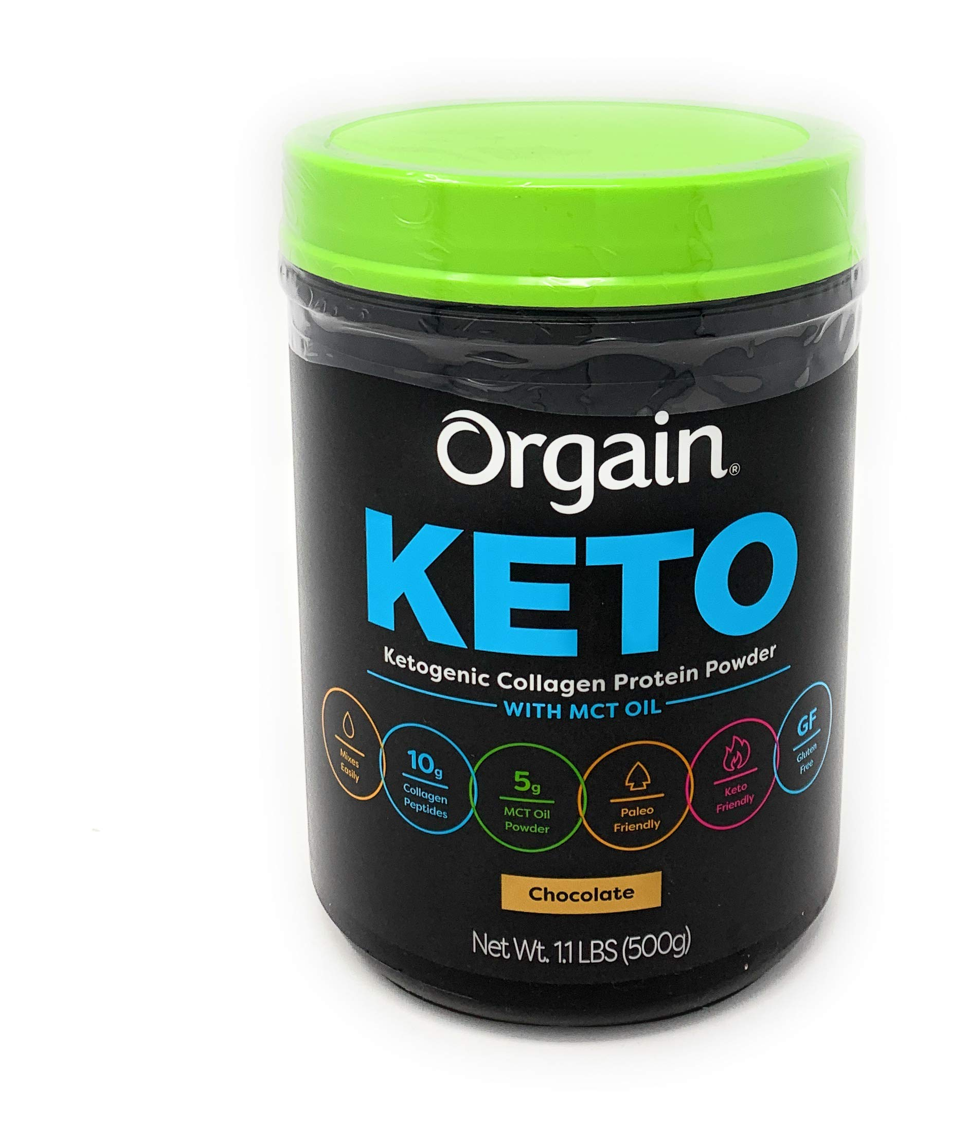 Orgain Keto Collagen Protein Chocolate Powder with MCT Oil Net Wt 1lbs, 1lb