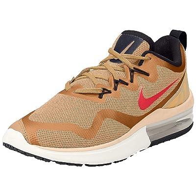 Nike Men's Air Max Fury Running Shoe Metallic Gold/Siren Red Dessert Black (12, Metallic Gold/Siren RED-Desert-Black) | Sandals