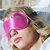 "Sleep More (SMALL-Med Size) Sleeping Mask for Men or Women, with Free ""ONE BAG"". A PINK Satin Natural Rest Aid for Sleep Disorders & Insomnia"
