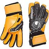 Uhlsport Ergonomic Soft HN Goalkeeper Gloves + Multi-Coloured Black / Orange