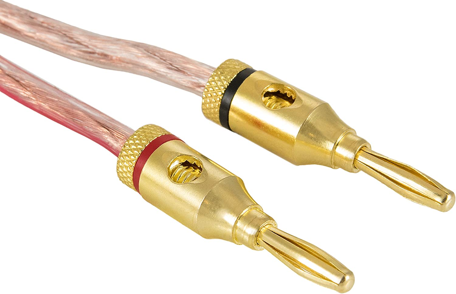 Poppstar 6x black, 6x red Bananas for speaker cables 2-piece plug 24k gold plated 12x High End Banana Plug up to 4 mm/²