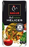Pastas Gallo -  Pasta Helices Vegetales,  Paquete 500 g - [pack de 6]