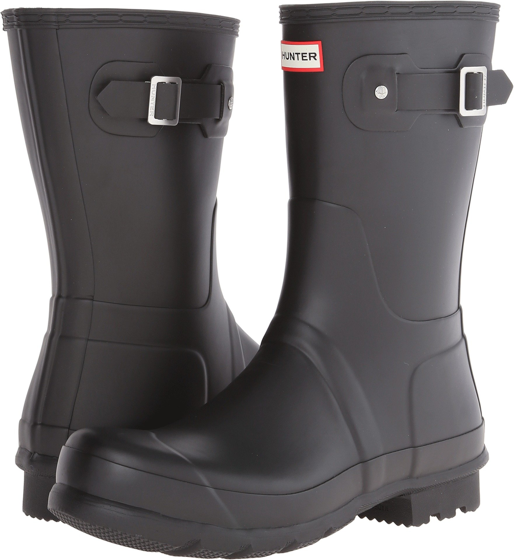 Hunter Mens Original Short Rain Boots Black 9 M