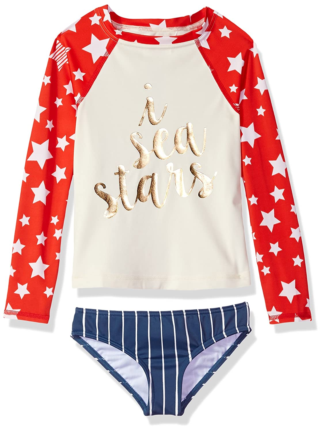 Billabong Girls Seein Stars Rashguard Swim Set Y218PBSE