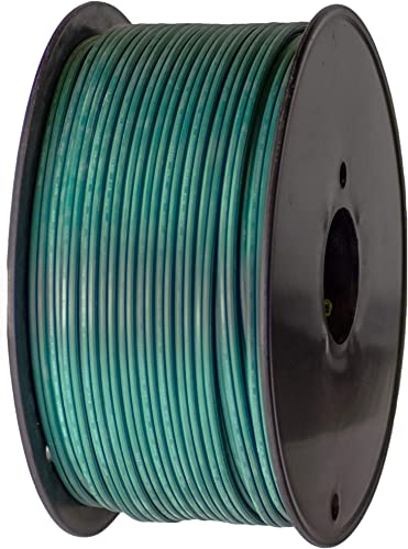 Holiday Lighting Outlet Green SPT-2 Commercial-Grade Bulk Blank Wire 18 AWG 10 Amps 250-Foot Spool Green Zip Wire