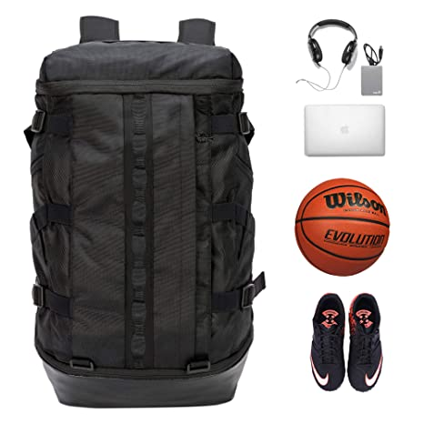 Amazon.com   TRAILKICKER Basketball Backpack with Ball Compartment ... 7fd30dbb1faf0