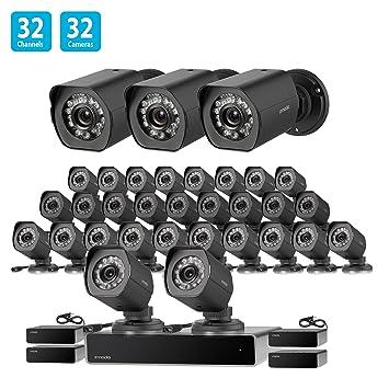 Zmodo - Sistema NVR de 32 canales de red 32 x HD cámara de seguridad de