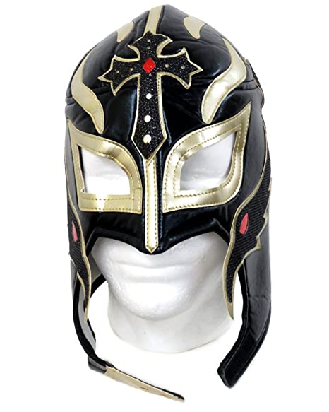 Leos Imports Rey Mysterio Lucha Libre Wrestling Mask (Pro-style) Black D02