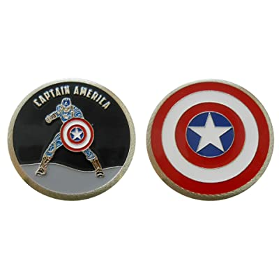 Captain America - Character Collectible Challenge Coin/Logo Poker/Lucky Chip: Toys & Games