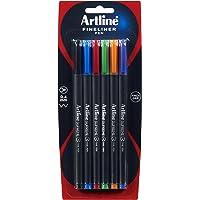 Artline Supreme Fineliner Pen 0.4Mm Astd Pk6