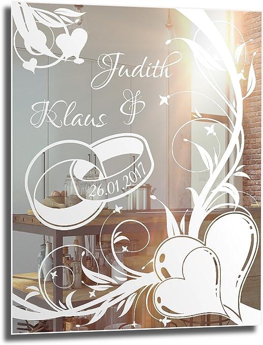 NiTec Olbernhau Motivspiegel Ehe 9 ★ 9x9cm ★ Geschenk zur Hochzeit ★  Wedding ★ personalisiert