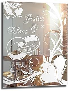 Motivspiegel Hochzeit 9 Spiegel mit Gravur Geschenk zur Hochzeit ...