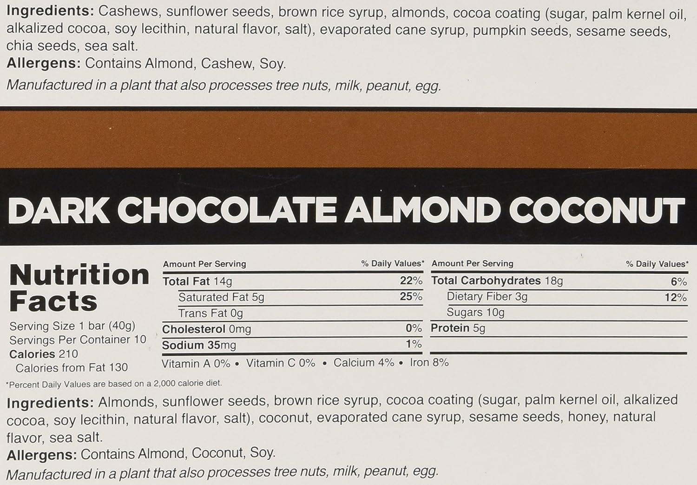 Amazon.com: Caveman Nutrition Bars 10 Dark Chocolate Cashew Almond ...