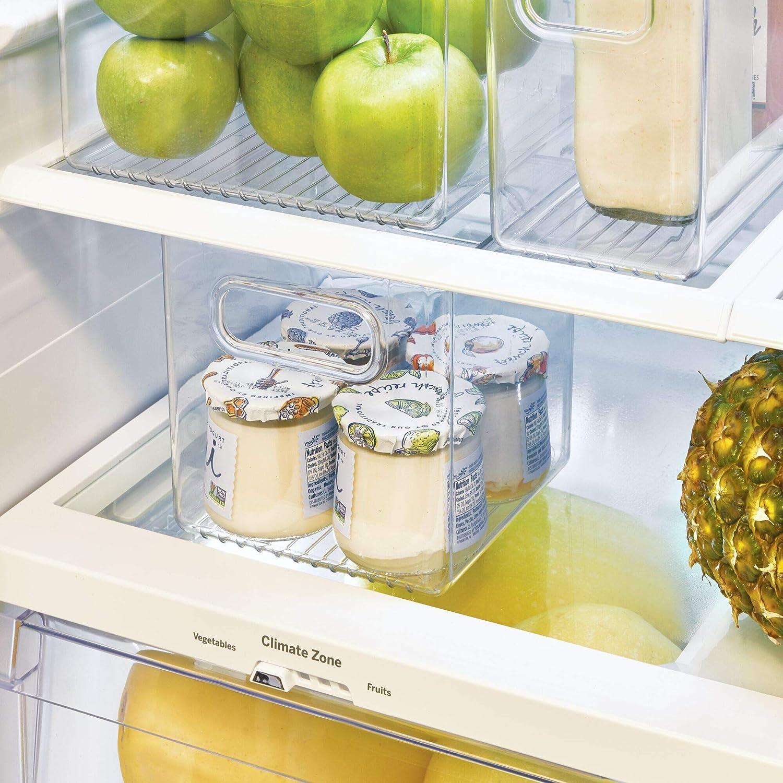 caj/ón para frigor/ífico InterDesign Cabinet//Kitchen Binz Caja organizadora Transparente Organizador de Cocina Mediano en pl/ástico