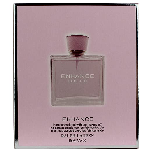 Amazon.com : Enhance For Her Eau De Parfum 3.3 Fl.Oz./100 ml - Inspired By RL ROMANCE : Beauty