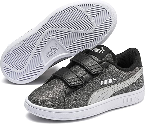PUMA Smash V2 Glitz Glam V PS, Sneakers Basses Fille: Amazon