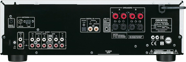 Onkyo TX-8020-S - Receptor esterero (90 W por canal, 3 entradas ...