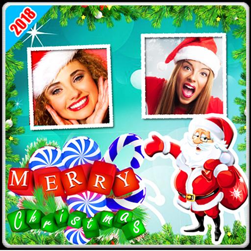 Christmas Photo Frames Dual Christmas Greetings