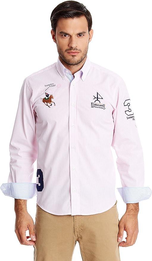 Valecuatro Camisa Hombre 3 Caballos Rosa M: Amazon.es: Ropa y ...