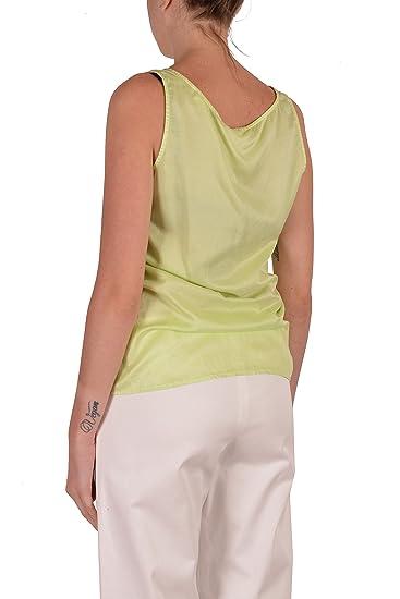 2f6aa142bd1f9 Hugo Boss Orange Etope Women s Green Silk Sleeveless Tank Top US 4 IT 40 at  Amazon Women s Clothing store
