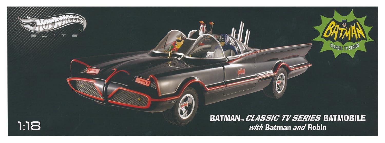 Hotwheels Hotwheels Hotwheels - Elite (Mattel)) – bcj95 – Fahrzeug Miniatur – Modell Maßstab – Batmobil – 1966 Version – Maßstab 1/18 d0cb2b