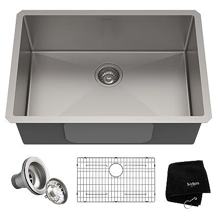 Kraus KHU100-28 Kitchen Sink, 28 Inch, Stainless Steel