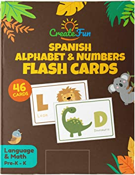 Amazon.com: Animal 123 y ABC tarjetas de memoria flash para ...