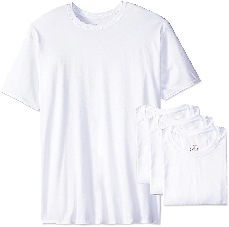 Hanes Men's 4-Pack Ultimate Tall Man Crew Neck Tee Hanes Men' s Underwear 9856W4