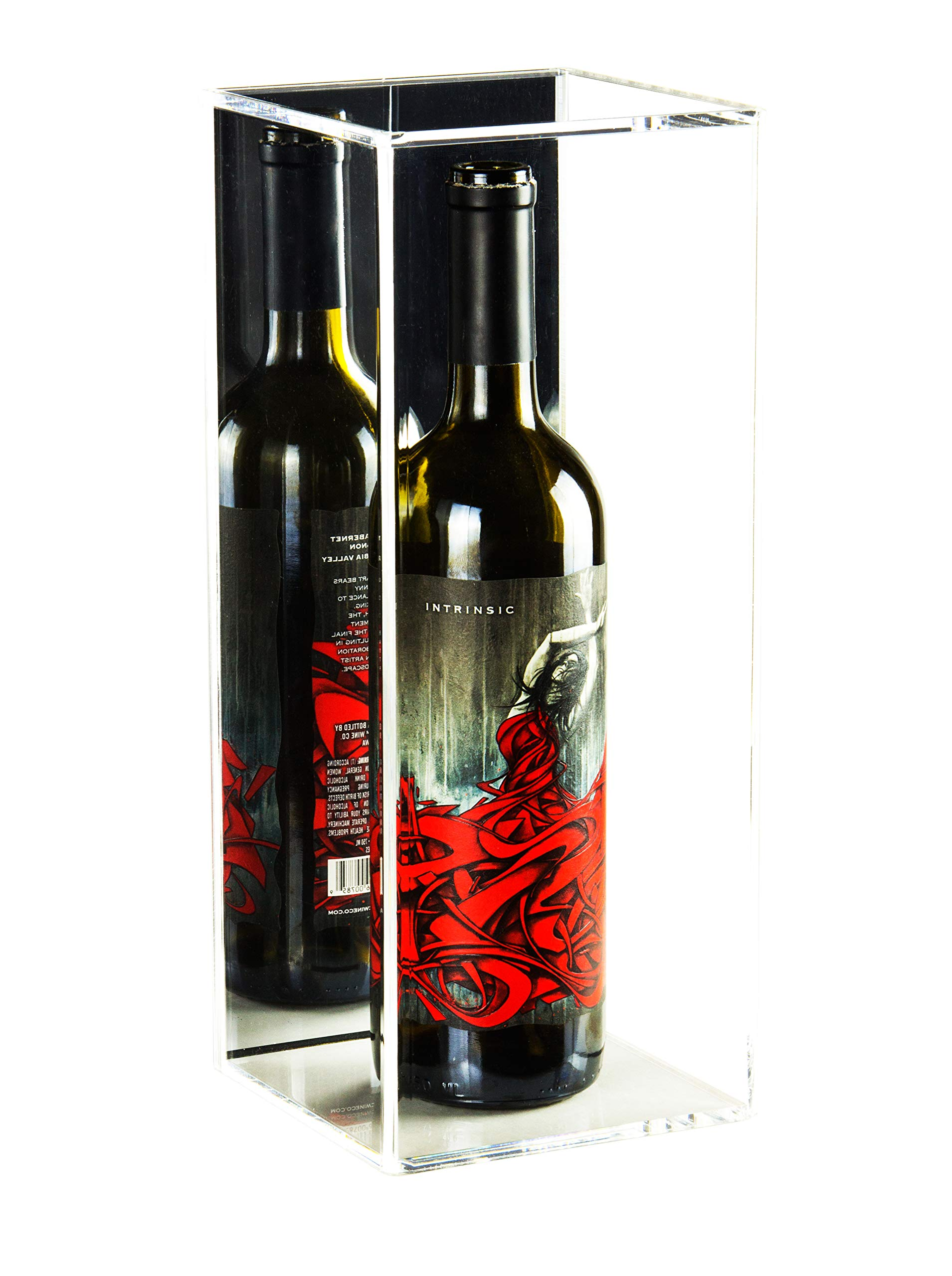 Deluxe Acrylic Wine Bottle Display Case with Mirror (A017-MB)