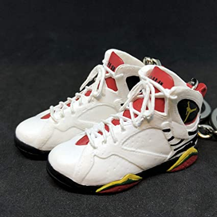 6372f063773ec0 Amazon.com   Pair Air Jordan VII 7 Retro Premio BIN 23 OG Sneakers Shoes 3D  Keychain 1 6 Figure   Everything Else