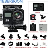 TEBERBOOM S4R Sport DV Action Camera 4K Ultra High Definition Sport Action Camera WIFI Waterproof Camera Dual-Screen