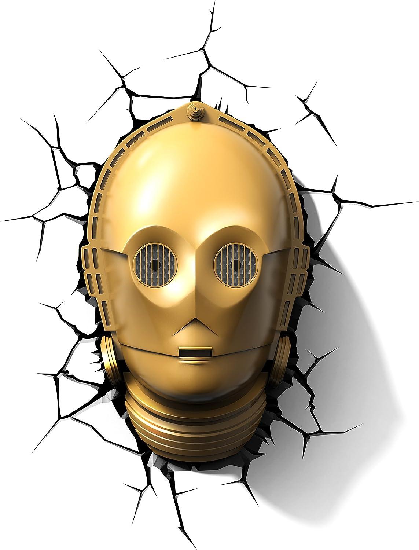 3D Light FX Star Wars C-3PO 3D Deco LED Wall Light, Gold, Model: 816733020648