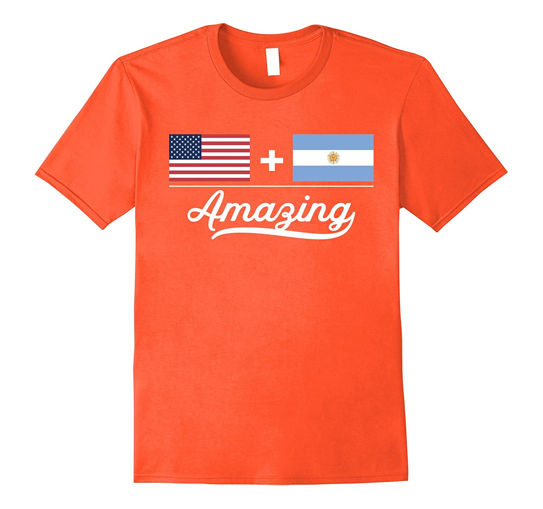 American  Argentinian  Amazing Flag T-Shirt-Vaci