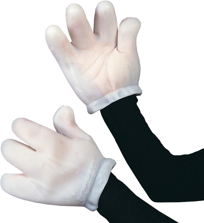Vinyl Cartoon Gloves White Adult Costume Accessory