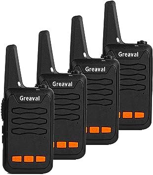 Greaval GV-33 Walkie Talkies - Radio de 2 vías (Distancia Larga, 16 Canales, PMR446) Pack de 4 Black- 4 Pack: Amazon.es: Electrónica